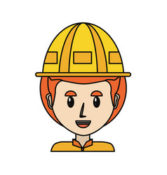 Worker profile cartoon vector
