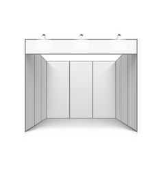 blank white trade exhibition booth system stand vector image vector image