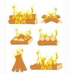 Bonfire set vector