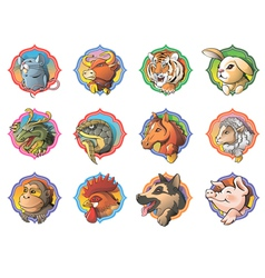 Chinese horoscope vector image