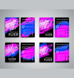 flyer design templates vector image vector image