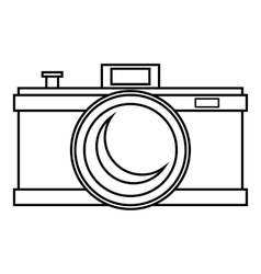 Photocamera icon outline style vector image
