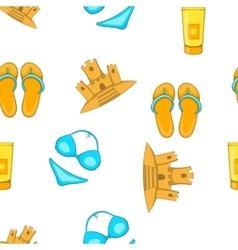 Sea beach pattern cartoon style vector image