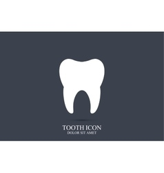 Tooth logo template Tooth icon Medical vector image