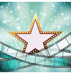 abstract cinema background vector image vector image