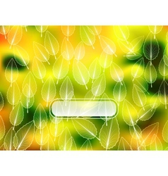 Autumn leaves blur background vector image