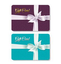 gift card set vector image