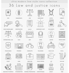 Law and justice ultra modern outline line vector image vector image