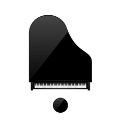 Musical background piano key vector