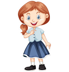 cute girl with happy face vector image vector image