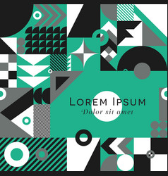 geometric pattern square background vector image