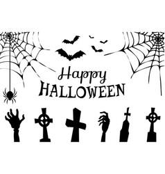 Happy halloween creepy poster vector