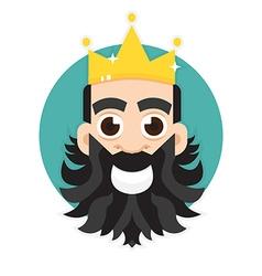 King logo King icon vector image vector image