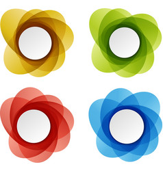 Set of round colorful shapes vector image vector image