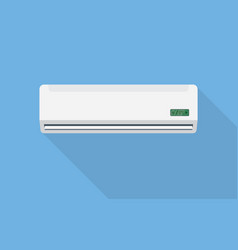 air conditioner on the wall with a long shadow vector image vector image