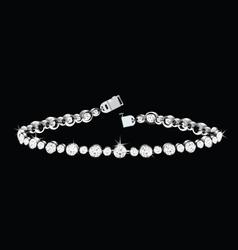 diamond bracelet vector image