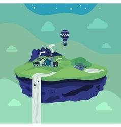 Fantasy flying island vector image