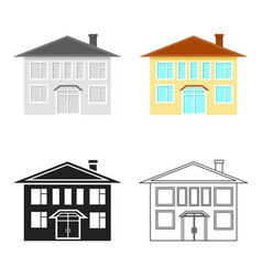 house icon cartoon single building icon from the vector image vector image