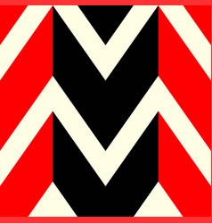 the pattern in which red black and white lines vector image