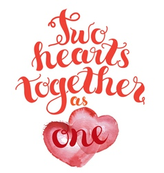 2 hearts together vector image