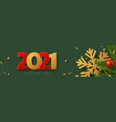 2021 happy new year banner vector