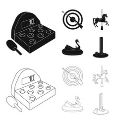 a game with a bat a target with a gun a horse on vector image