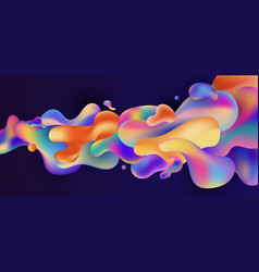 abstract colorful gradient fluid shape flowing on vector image