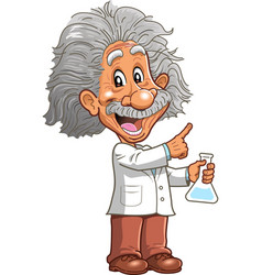 albert einstein professor genius scientist vector image