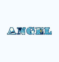 angel concept word art vector image