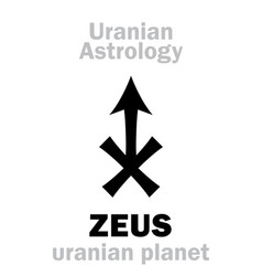 astrology zeus uranian planet vector image