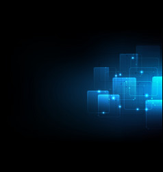 background abstract polygon data technology vector image