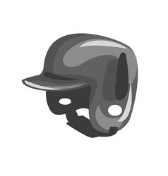 black plastic helmed for head protection part of vector image