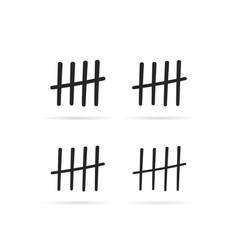 black tally marks like counting in prison vector image