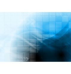 Bright blue technology design vector