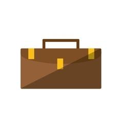 brown portfolio suitcase business flat icon vector image