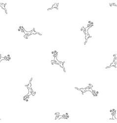 christmas deer simple seamless pattern snowflake vector image