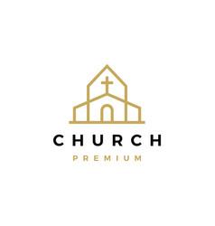 church logo icon vector image