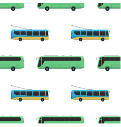 city transport public industry bus seamless vector image