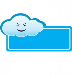 cloud banner vector image