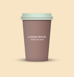 Coffee cup icon cup take away vector