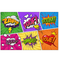 Comic bright template vector