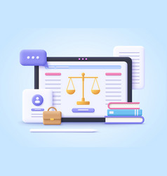 concept law professional lawyer punishment vector image