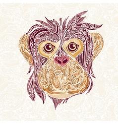 decorative head of monkey symbol new year vector image