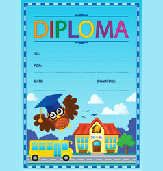 Diploma theme image 9 vector