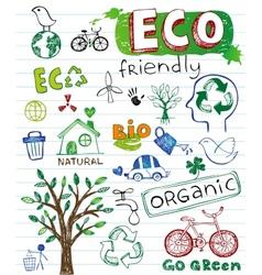 Eco friendly set vector image