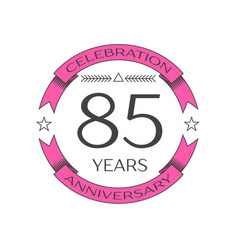 eighty five years anniversary celebration logo vector image