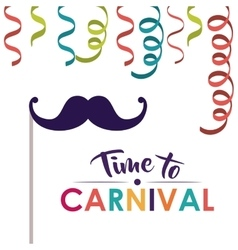 Festival and carnival accesories design vector