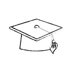 figure cap graduation object design vector image