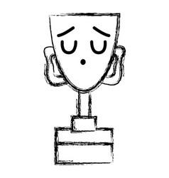 figure kawaii cute funny prize cup vector image