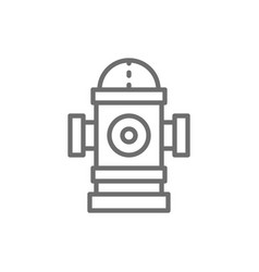 fire hydrant line icon vector image